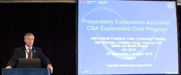 Jean-Claude Piedboeuf of the CSA provides an Exploration Core Program as of 2010