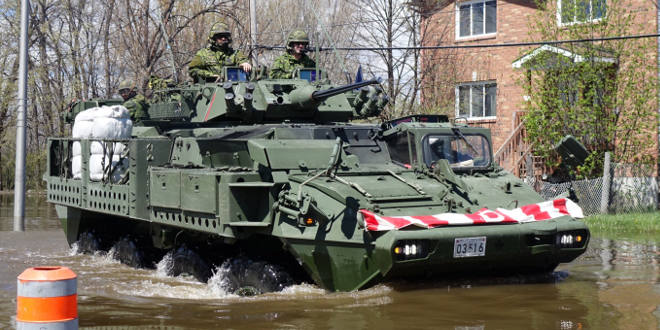The military is out surveying the worst hit spots in Gatineau to figure out where the most help will be needed during clean up