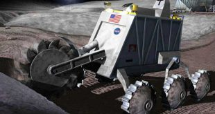 Artist illustration of moon resource extraction