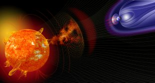 Artist illustration of events on the sun changing the conditions in Near-Earth space