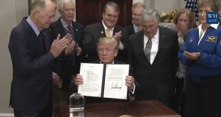 President Trump signs Space Policy Directive 1