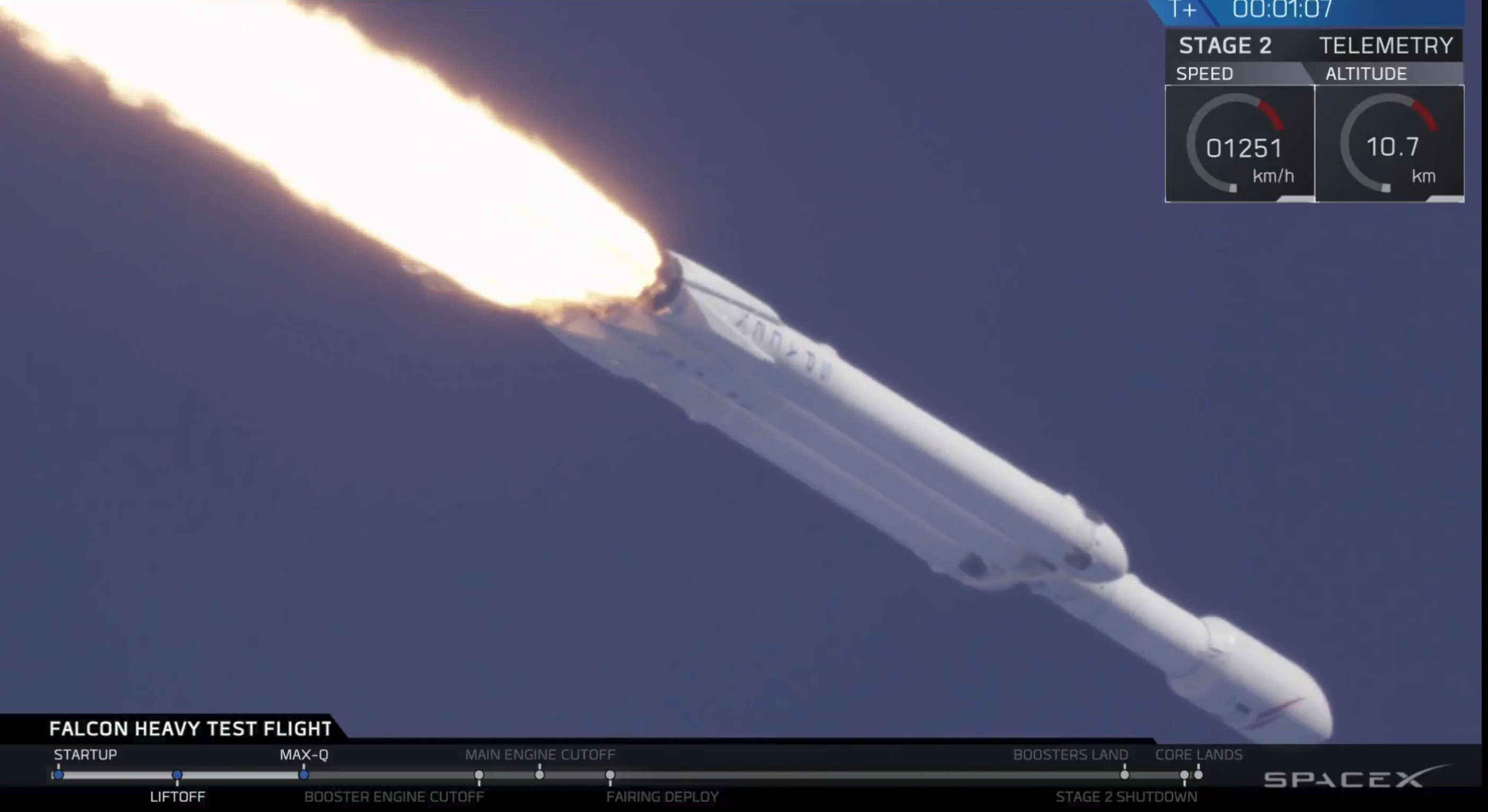 SpaceX Falcon Heavy launch.
