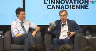 Bill Nye The Science Guy, who is the CEO of the Planetary Society pictured with Prime Minister Trudeau