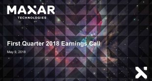 Maxar Technologies Q1 2018 earnings presentation