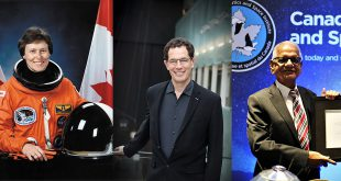 The Governor General announced 105 new appointments to the Order of Canada including three space pioneers; Left to right: Astronaut Roberta Lynn Bondar, cosmologist Neil G. Turok and former Canadian Space Agency President (acting) Virendra K. Jha