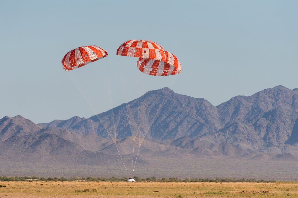 NASA completes Orion parachute tests for missions with astronauts.