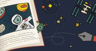 Write a story, have it read in space.
