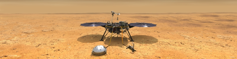 Artist illustration of Mars InSight lander on Mars