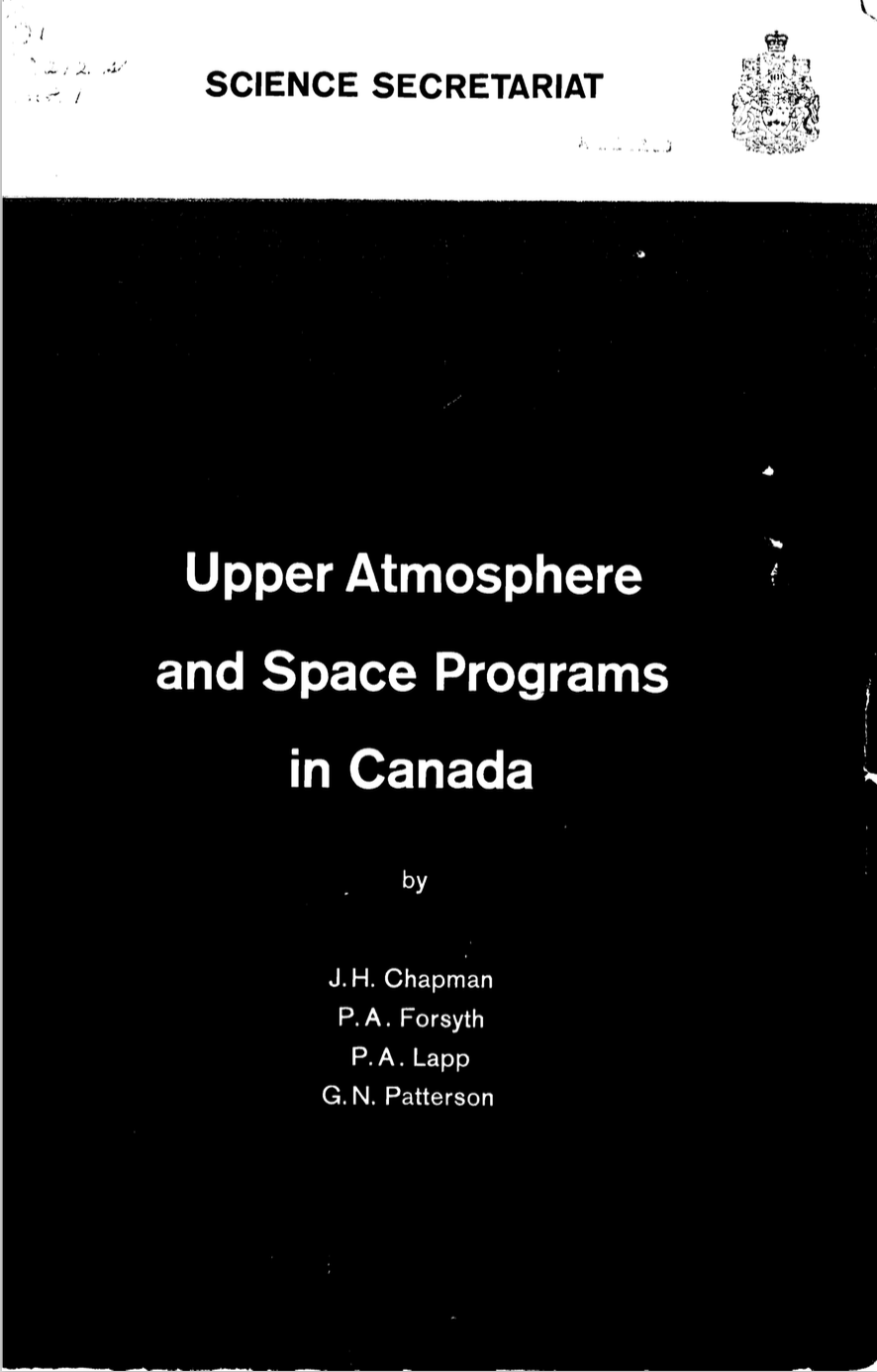 Upper Atmosphere and Space Programs in Canada, Special Study No 1
