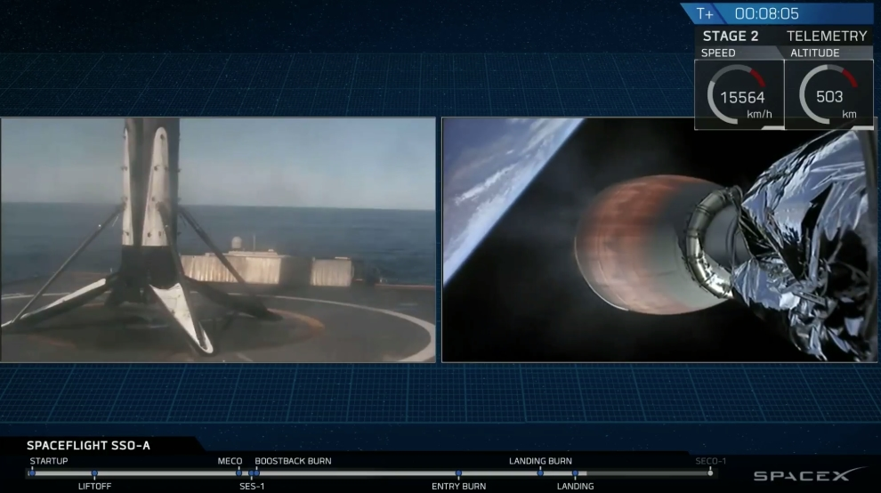 SpaceX Falcon 9 first stage landing