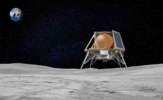 Team Indus Moon Lander illustration