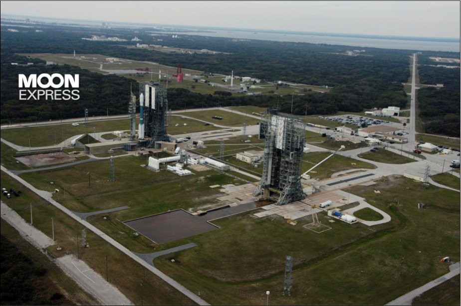 Moon Express leased launch complexes 17 and Cape Canaveral Air Force Base