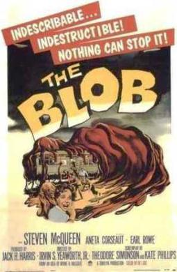 The Blob movie poster.